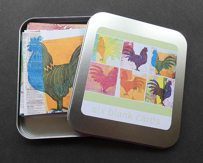 Tin of Six Blank Chicken Cards - Digital print - £8.00