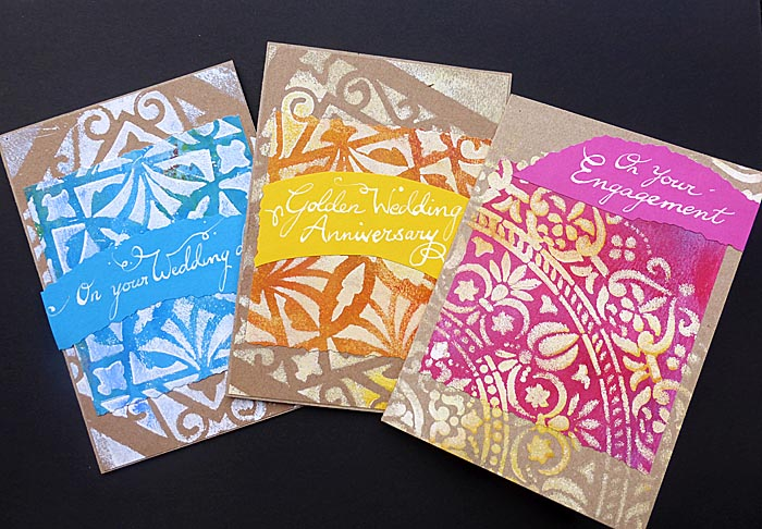 Luxury cards hand decorated and hand lettered