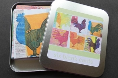 Tin of Six Blank Chicken Cards