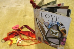 Re- purposed collaged book of love
