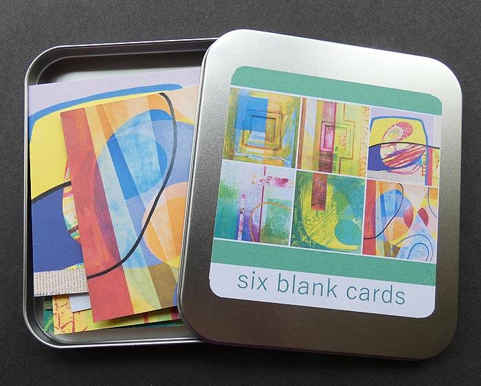 Tin of Six Blank Art Cards - Digital print - £8.00