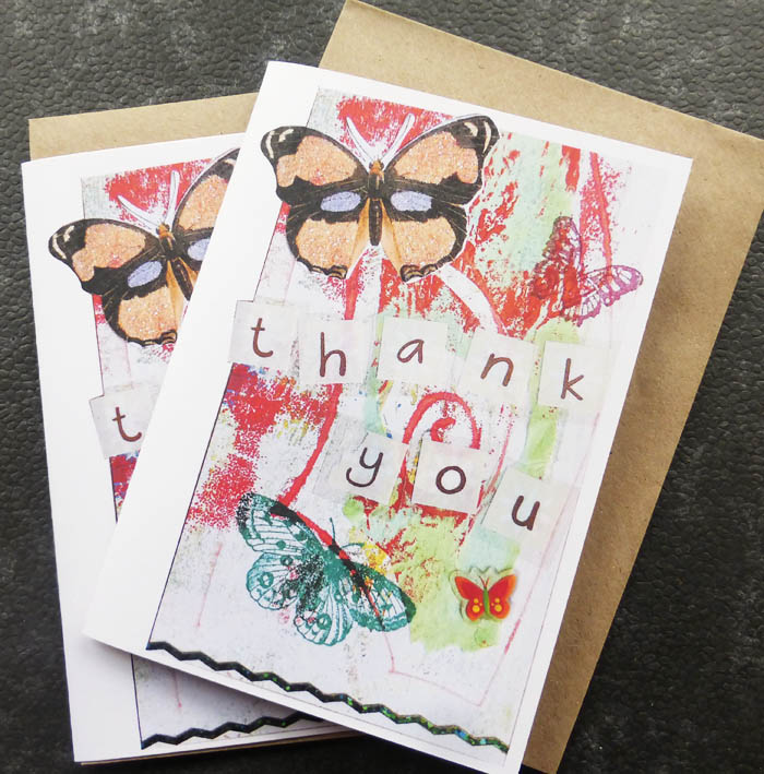 Thank you cards -Digital print