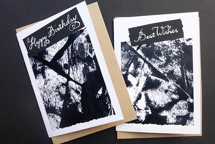 Handmade original art card - Hand Lettered -