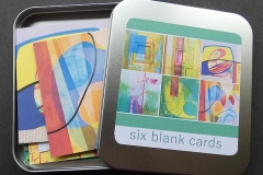 Tin of Six Blank Art Cards - Digital print - £8.00