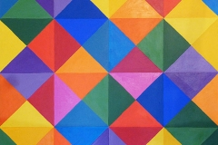 64 Triangles - Acrylic on canvas - £390